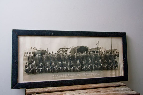 Military Print, Photograph, Framed Army Photo, Fort Bragg, Army Soldiers, Group Photo, 1940s, American Soldiers, Historical, Black and White