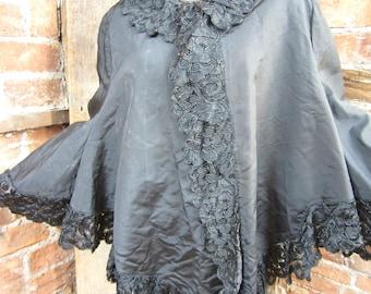 On Sale Victorian Cape Steampunk Battenburg Lace Jacket