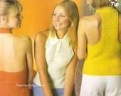 Crochet Halter Tops PDF of Vintage Pattern 330 from WonkyZebra