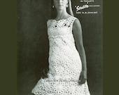Crochet Dress Pattern PDF 059 Vintage Shift Dress from WonkyZebra
