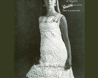 Crochet Dress Pattern PDF 059 Vintage Shift Dress from WonkyZebra