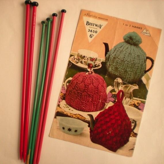 Vintage Knit Pattern PDF 074 3 Chunky Tea Cosies from WonkyZebra
