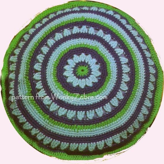 Crochet Pattern Cottage Cushion Vintage 60s PDF 325 from WonkyZebra
