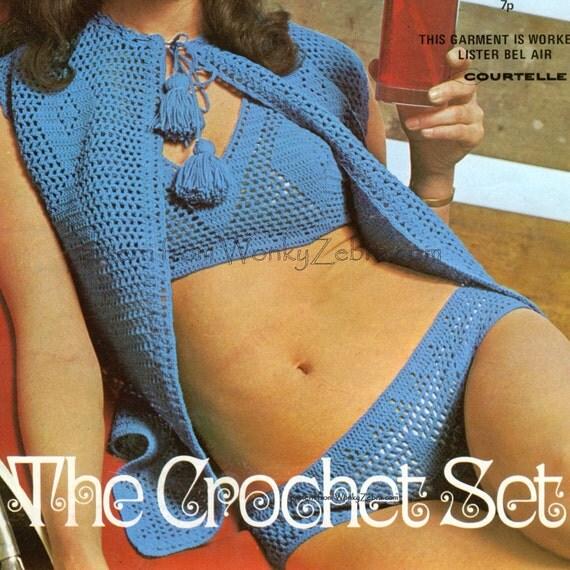 Vintage Crochet Pattern PDF 136 Bikini Set from WonkyZebra