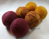 Wool Dryer Balls - Harry Potter Gryffindor - Set of 6 Eco Friendly - Can be Scented or Unscented