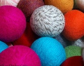 Wool Dryer Balls - Choose  Your Own Colors! - Set of 4 - An Eco-Friendly Alternative to the Conventional Dryer Sheet and Fabric Softener!