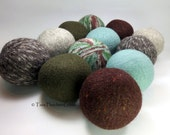 Wool Dryer Balls - Camping Trip Set of 12 Eco Friendly - Can be scented or unscented