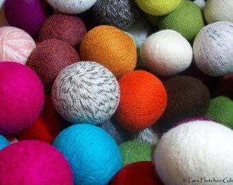 Wool Dryer Balls - Choose Your Own Colors! - Set of 14 - An Eco-Friendly Alternative to the Conventional Dryer Sheet and Fabric Softener!
