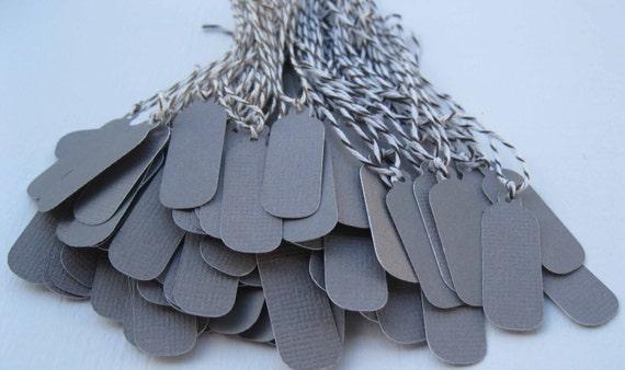 100 Textured Jewelry Tags/Dark Gray