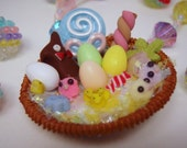 Ultimate Easter Basket Miniature Charm Collage Pendant Necklace