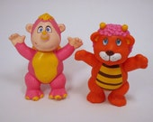 Disney's The Wuzzles Rhinokwy and Bumblelion Poseable Figure Orange and Pink