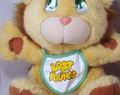 CLEARANCE Half OFF Lost N Found Galoob 80s Plush Crying Baby Lion kawaii animal fairy kei lolita collection