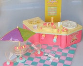 RESEREVD  for Megward19 Barbie Ice Cream Shoppe Pastel Pink Blue and Yellow In Original Box