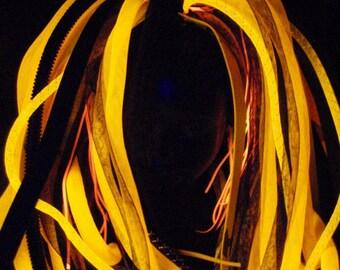 Long Orange Pigtail Wig