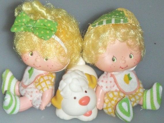 Lem N Ada With Sugar Woofer Vintage Strawberry Shortcake Dolls