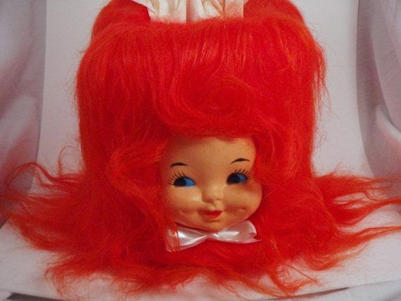 Creepy Doll head Tissue Box Cover