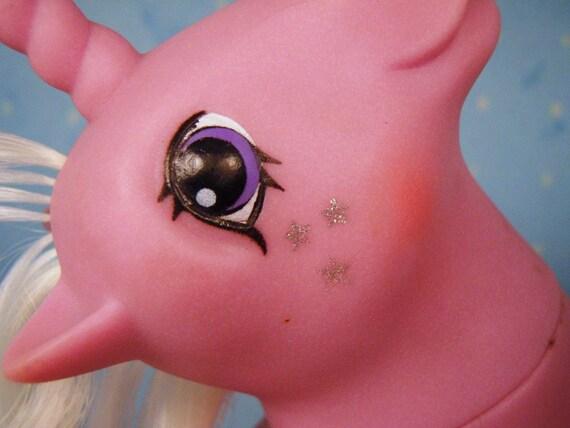 My Little Pony Twice as Fancy TAF Milkyway G1 Pastel Pink Silver Stars MLP Unicorn