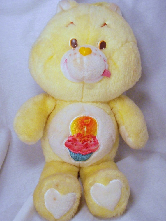 Birthday Bear Care Bears 13 inch Plush Yellow