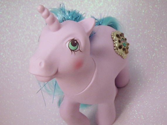 My Little Pony Princess Ponies Sparkle G1 Pastel Purple Teal Aqua MLP