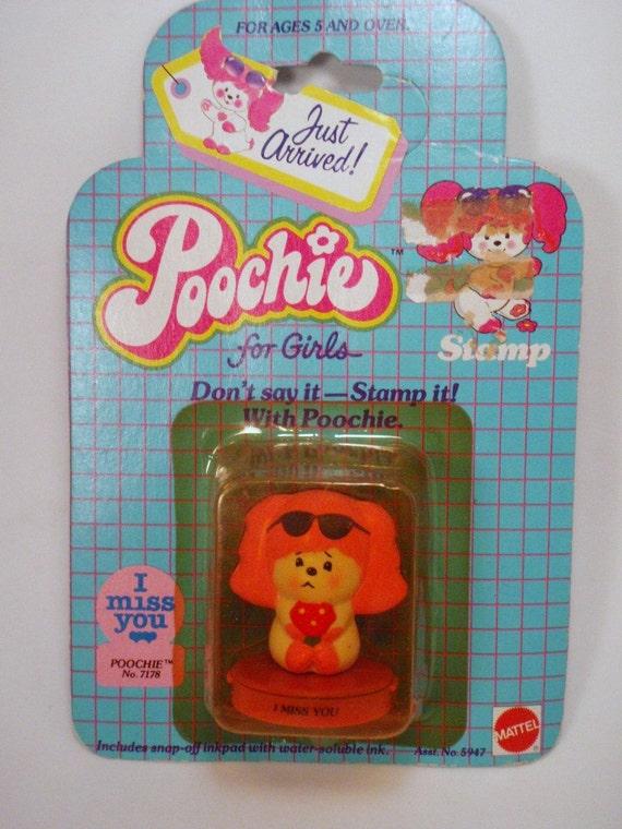 Poochie I Miss You Stamper Retro Stationary Mattel In Original Packaging MIB mip moc nrfp nrfb