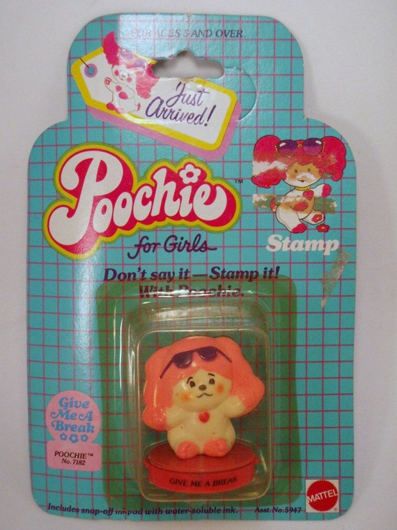 Poochie Give Me A Break Stamper Retro Stationary Mattel In Original Packaging MIB mip moc nrfp nrfb