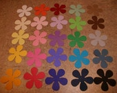 Die Cut Hand Punched Flowers Choose Your Colors Lot of 100