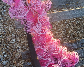 Katia Triana Ruffle Scarf - Hot Pink/rose/light Pink