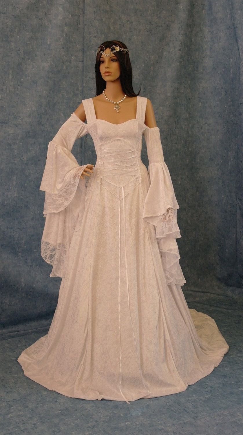 Renaissance wedding dress medieval dress by camelotcostumes for Elven inspired wedding dresses