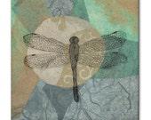 Aqua Dragonfly Tile
