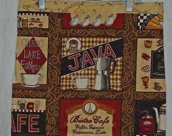 Cute Waist Apron, For Coffee Lovers, Latte Java Espresso, Waitress, Vendor, Half Apron, No Shipping Charges, Ready To Ship TODAY, AGFT 230