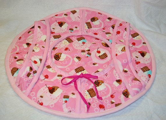 Pink Cupcake Casserole Quilted Carrier, Quilted, Embroidered, Monogrammed Personalized With Name, Ready To Ship AGFT 131