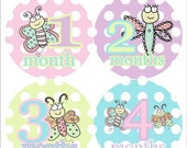 Monthly Onesie Stickers NEW Waterproof Stickers Extra Durable-Adorable Bugs Ship Next Day