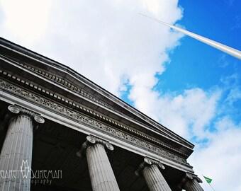 St Patricks Day, March, Ireland, Irish Photography Dublin's O'Connell Street Post Office and Spire  Éirí Amach na Cásca Easter Rising 1916
