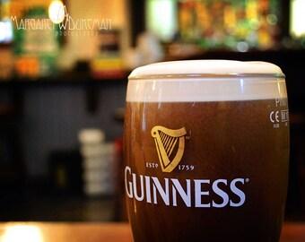 St Patricks Day, March, Guinness, St. James Gate, Dublin, Ireland, Harp, Pub, Man Cave, Draft Glass, Margaret Dukeman, Fine Art Photography