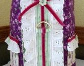 Lil Gals Harness Vest - Purple-n-Pink Posies (Medium)