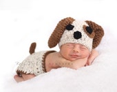 Bingo the Puppy--Hat and Diaper Cover Set