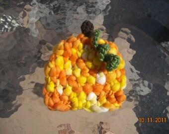 Handspun Pumpkin Beanie--READY TO SHIP
