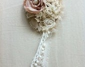 The Tea Rose Necklace / Brooch