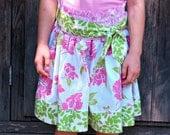 Molly High Waist Skirt with Sash - Pdf Tutorial - 6M - 12Y