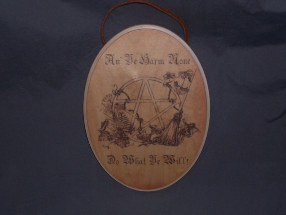 Wiccan Rede Oval Wall Plaque