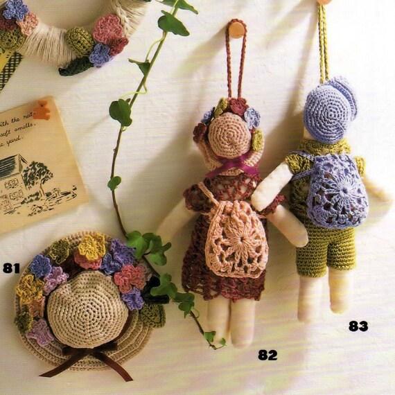 Crochet Book, Japanese Craft Book, Crochet Doll Pattern, Crochet Earrings Pattern, Doily Pattern, Crochet Bag Pattern, Crochet Scarf Pattern