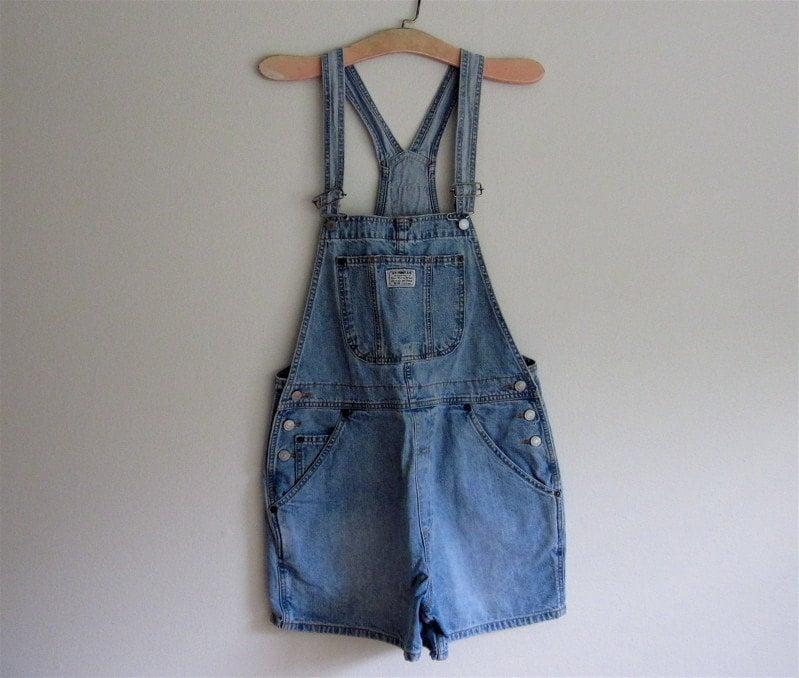 Vintage Levis Lightweight Denim Short Overalls