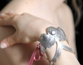 Swallow Cuff bracelet LAST ONE (Silver Plated)