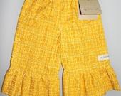 Ruffle Pants - Yellow And White 18m