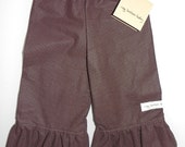 Ruffle Pants - Brown With Small White Dots 6/9m, 12m, 2t, 3t, 4t, 5t