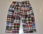 Boys Pants - Madras Print (As Seen on the Martha Stewart Show)  6/9m,12m,18m,2T,3T,4T,5T