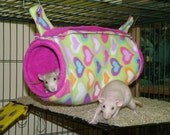 "MTO 5"" X 10"" Guinea Pig, Rat, Ferret, Chinchilla Tunnel, Bed - 70 Plus Fabric choices"
