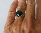 Emerald Green Crown Ring