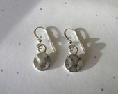 Hammered Silver Disc Earrings