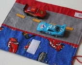 Car Caddy Roll Up w/ Road Play Mat - Disney Cars (McQueen and Friends) - Holds 5 Matchbox Cars (Last One)